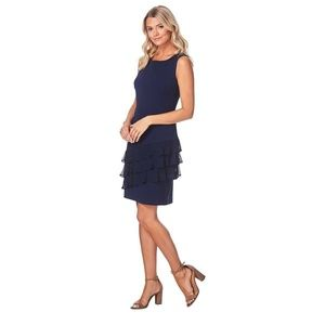 Connected Apparel Lacey Little Navy Dress
